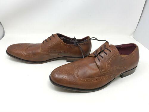 425L 176490 Mens Apt 9 Brewster Cognac Wingtip Dress Shoes