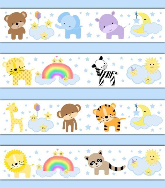 Baby Room Wallpaper Borders Jungle Zoo Anim...