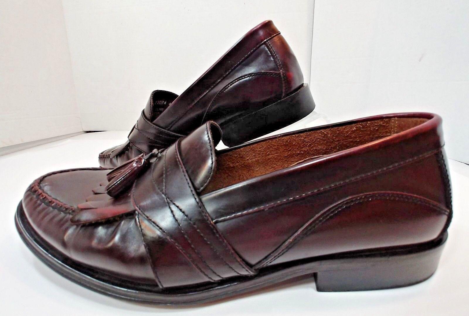 Bass Weejun Leather Kilt Loafer Wine Burgundy Cordovan Slip On shoes Mens 11.5D