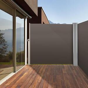 Doppel Seitenmarkise Sichtschutz Sonnenschutz Aluminium Garten