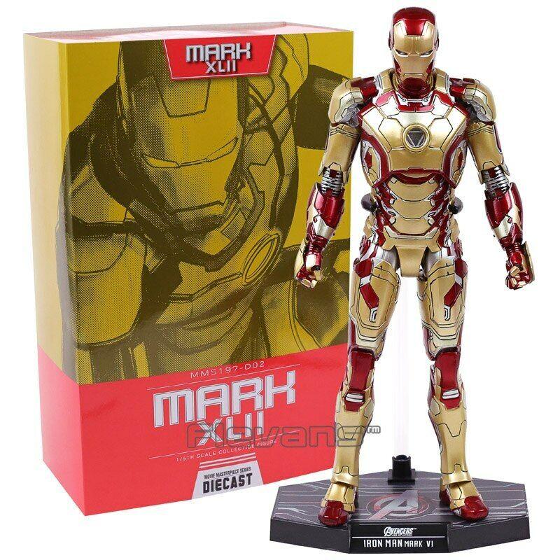 Hot Juguetes Iron Man Mark XLII Mk 42 con luz LED 1 6 scale PVC recopilar Figura