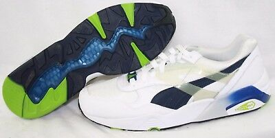 NEW Mens PUMA R698 Mesh Neoprene 359125 01 White Blue Sneakers Shoes | eBay