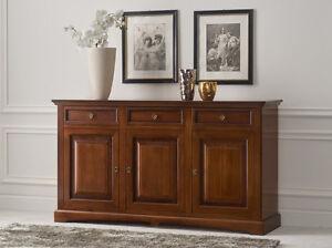 Credenza In Legno Arte Povera : Credenza madia mod goccia in legno noce arte povera ebay