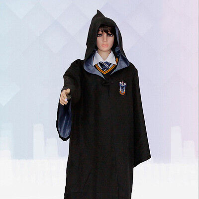 Harry Potter Adult Gryffindor/Slytherin/Hufflepuff/Ravenclaw Robe Cloak Cape Cos