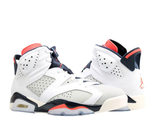 b48bc44473c Nike Air Jordan 6 Retro Tinker White/Infrared Men's Basketball Shoes  384664-104