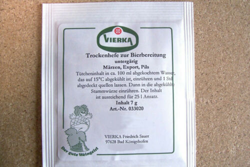 Pils,Export Märzen Bierhefe BrauhefeTrockenhefe untergärig Typ 25 l Bier hell