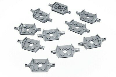 Modified 2 x 2 Wheels Holder Wide and Hole Light Bluish Gray 35 NEW LEGO Plate