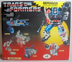 EL-GRECO-VTG-1985-TRANSFORMERS-G1-GREEK-EXCLUSIVE-DEFENSOR-GIFT-SET-UNUSED-MIB