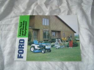 Vintage Ford Lawn /& Garden Tractor Brochure LGT-14D LGT-16D LGT-18H  YT-14 YT-16