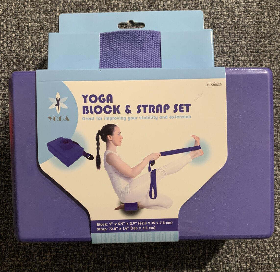 yoga block & strap set