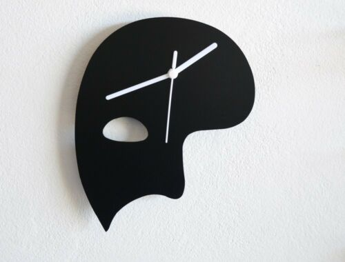 Wall Clock Phantom of the Opera Mask Silhouette