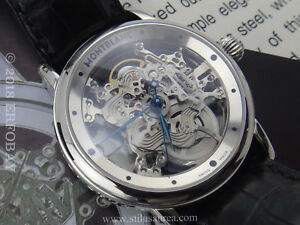 Watches, Parts & Accessories Pens & Writing Instruments Montblanc Meisterstück Skeleton Star Watch Limited Edition #009/333 Ref 05646 Easy To Lubricate