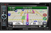Kenwood In Dash 6.1 Car Video Monitor Dvd Player W Garmin Gps Navigation System