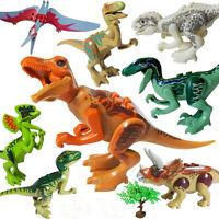 Usa 8pcs/lot Dinosaurs Education Toy Baby Mini Figure Blocks Set Kid Model Toys