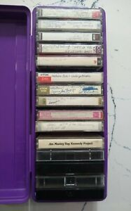 Lot of 15 Used Audio Cassette Tapes w/ Case, Sony/Maxwell/TDK
