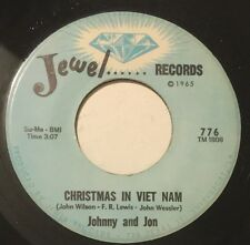 JOHNNY AND JON Christmas In Viet Nam/Why Did You Leave Me 45 Jewel