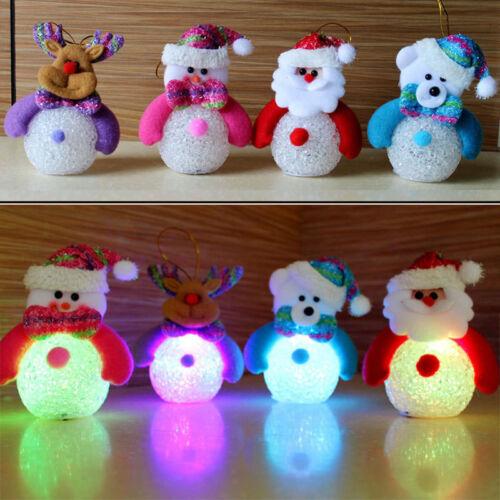 Weihnachtsmann Schneemann LED Lampe Tischleuchte Elektroleuchte Nachtlicht
