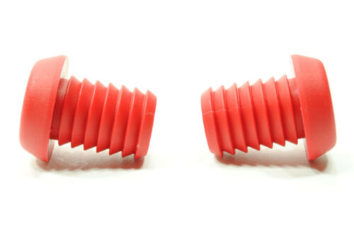 RED NYLON BAR END PLUGS