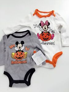 a49e8ad9cdcfa Details about Disney Kid Girl boy Baby Minnie mickey mouse My 1st Halloween  Costume Romper
