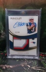 2019 Immaculate Damien Harris RC On-Auto 4-Color Patch /99 Pats Rookie