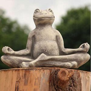 vidroflor garten figur yoga frosch xxl gartenfigur skulptur steinguss statue ebay. Black Bedroom Furniture Sets. Home Design Ideas
