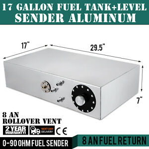 Details about 17-gallon aluminum fuel cell gas tank+level sender Hot Rod  Custom OEM cell tank