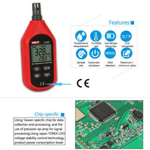 UNI-T UT333 Thermometer Hygrometer Portable LCD Digital Air Temperature Humidity Meters