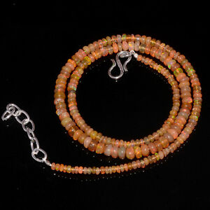 38CRTS-3to5MM-18-ETHIOPIAN-OPAL-RONDELLE-BEAUTIFUL-BEADS-NECKLACE-OBI2701