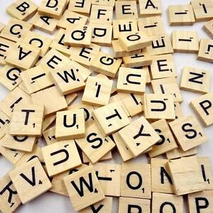 Details About 100 Wooden Scrabble Tiles Letters Crafts Alphabet Scrabbles Board Game Toy Shan