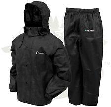 Frogg Toggs All Sport Rain Suit Jacket & Pants Gear Wear Sports Frog Black LG