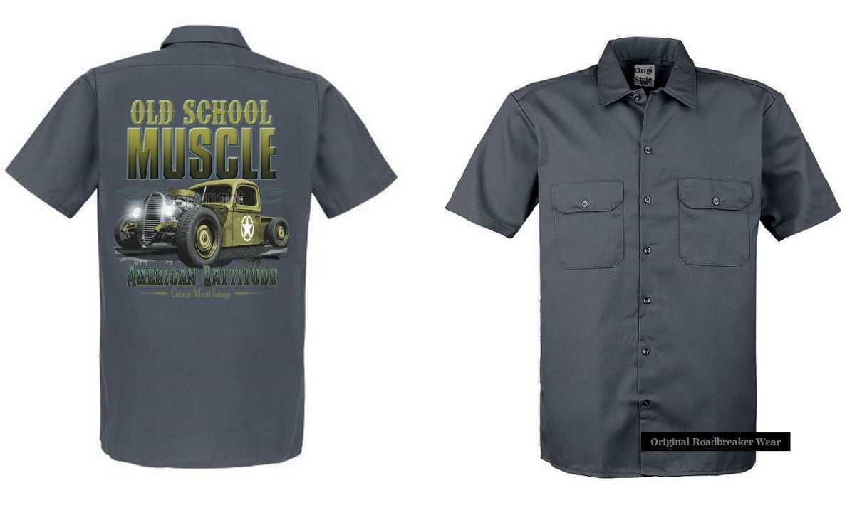 Worker Shirt grau grau grau V8 Oldschool Hot Rod US Car-& `50 Stylemotiv Modell Old School    Zürich Online Shop    Zuverlässige Leistung    Vollständige Spezifikation    Spielen Sie Leidenschaft, spielen Sie die Ernte, spielen Sie die Welt    Jeder beschrieben 69c8c6