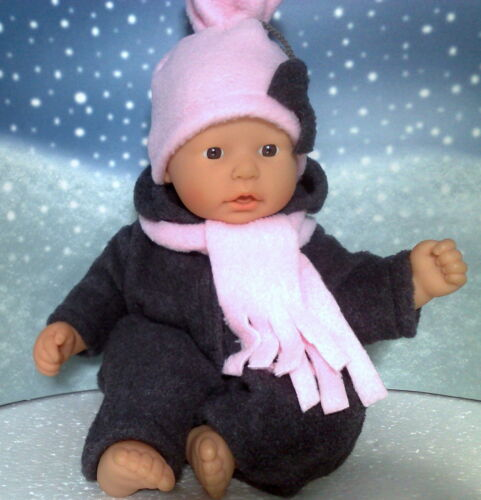 Schneeanzug,Mütze und Schal rosa passend First Annabell Chou Chou 36 cm Neu