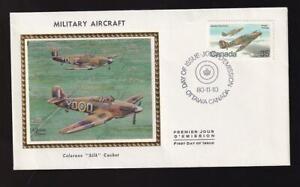 Canada-FDC-Colorano-1980-sc-876-Military-Aircraft-Hawker-Hurricane
