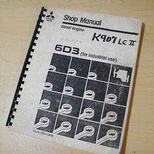 MITSUBISHI MOTORS 6D3 Industrial Diesel Engine Repair Shop Service Manual book