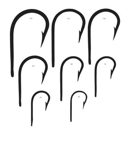 10 Mustad Big Game 7691DT Size 5//0 Southern and Tuna Hooks 7691DT-50 Duratin