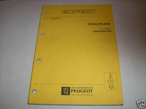 Workshop Manual Peugeot Expert Wiring Diagrams  Piece 1997