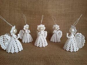 Armenian Handmade Crochet Angel Baptism Gift White Crochet Lace