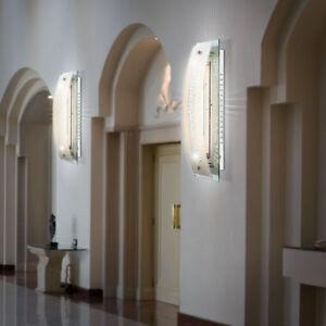 2er Set Led Chrom Wand Leuchten Treppenhaus Beleuchtungen Glas