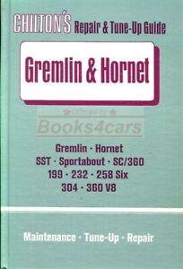 SHOP MANUAL SERVICE REPAIR GREMLIN HORNET AMC CHILTON BOOK HAYNES