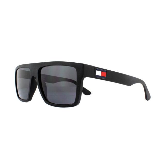 9324eb91a203 Tommy Hilfiger Sunglasses Th 1605/s 003 IR Matte Black Grey Blue for sale  online | eBay