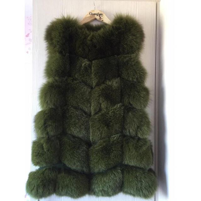 Women Real RACC00N Fur Vests Long Waistcoats New Currents Winter Warmer Gilet