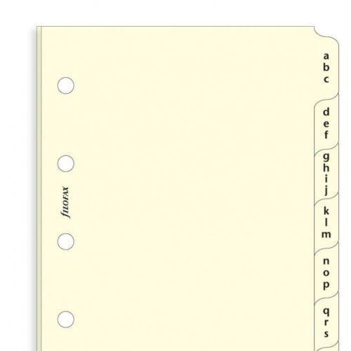 511685 Mini Cotton cream A-Z index 3 letters Filofax