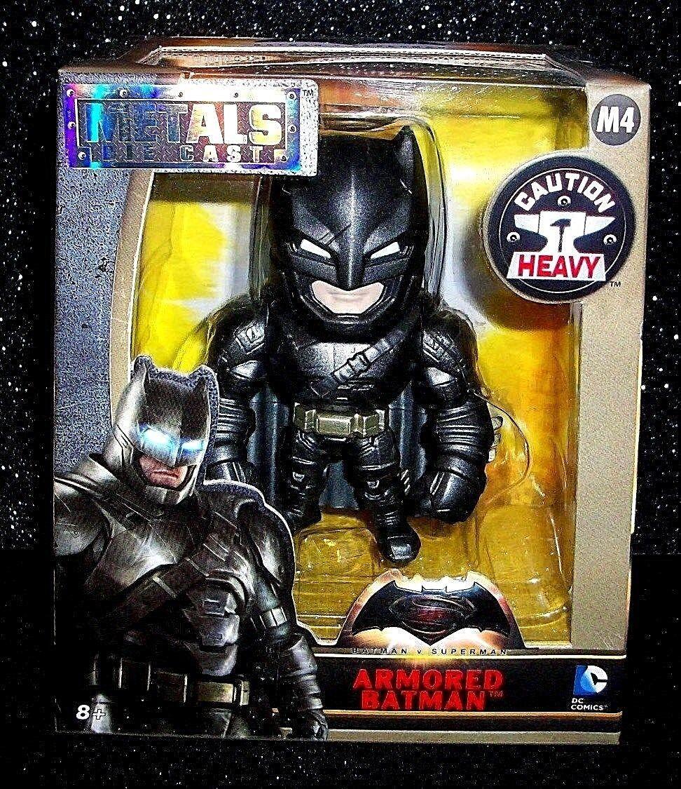 """JADE METALS DC COMICS ARMORED BATMAN METAL DIE CAST 4/"""" ACTION FIGURE #ssep17-151"""