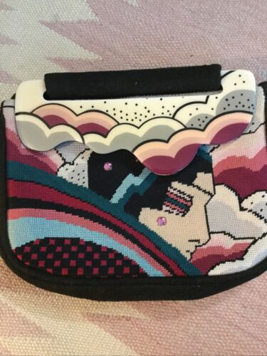 1980s Moon Bag Patricia Smith Art Deco Peter Max S