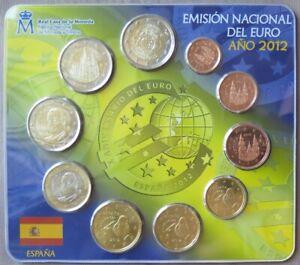 ESX2012.1 - SERIE BU EUROS ESPAGNE - 2012 - 1 cent à 2 euros+ 2x2 € commémo 2012