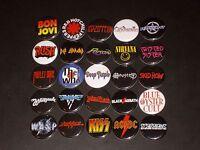 Rock Band Logo Buttons / Pins 25