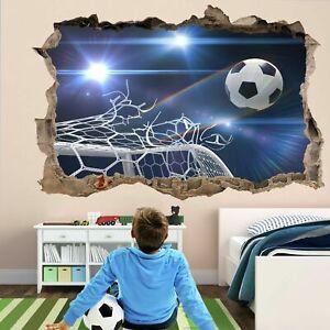 Detalles de Objetivo de fútbol redes 3D Pared Adhesivo Mural Calcomanía  Decoración para cuarto de niños pelota de fútbol GD20- ver título original