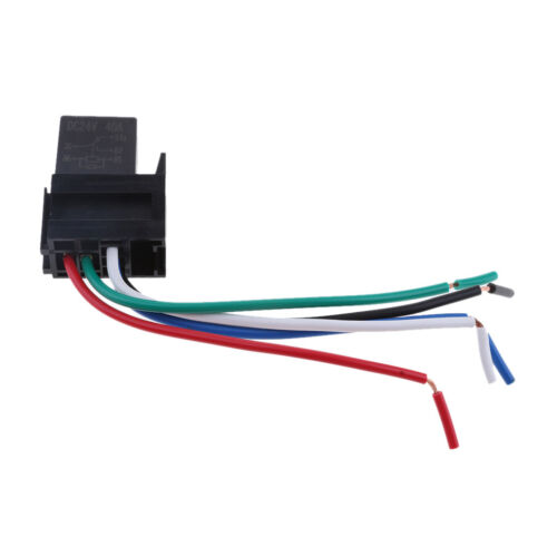 MagiDeal 24V 30Amp SPDT Bosch Style Automotive Relays /& 5Wire Socket Harness