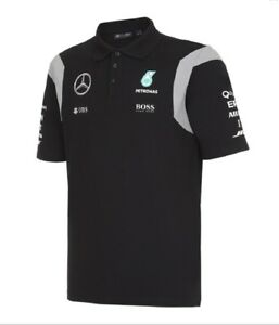 POLO-Shirt-Mercedes-AMG-Petronas-F1-Team-Men-Poloshirt-Formula-One-1-NEW-Black-S