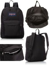 Jansport Backpack Superbreak Black 25L Luggage Skate School Travel Bag